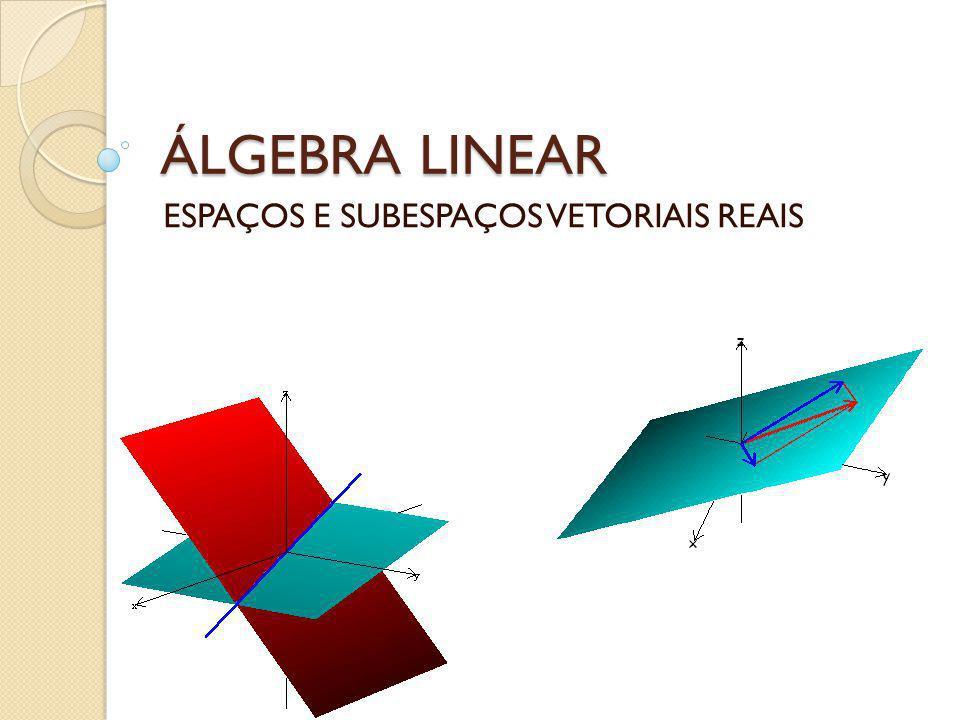 Espaços Vetoriais Um espaço vetorial real é um conjunto V, não vazio, com duas operações:, adição e multiplicação, tais que para quaisquer vetores u, v e w e escalares reais a e b, satisfazem: