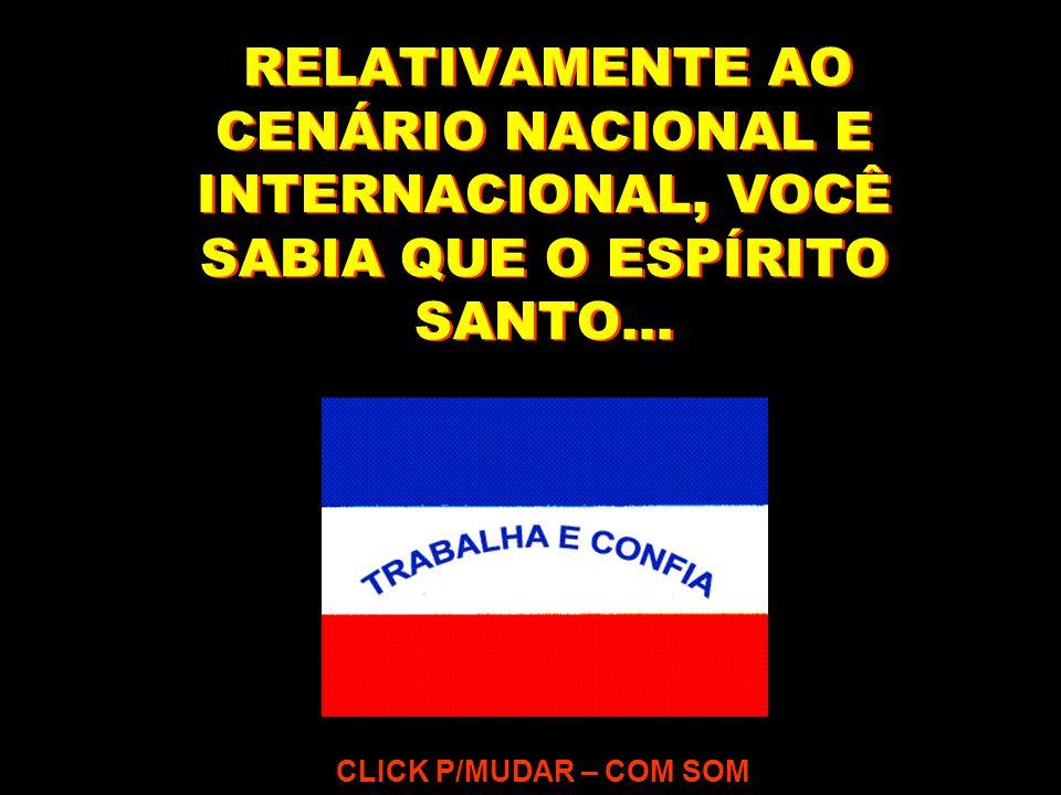 RELATIVAMENTE AO CENÁRIO NACIONAL E INTERNACIONAL, VOCÊ SABIA QUE O ESPÍRITO SANTO... CLICK P/MUDAR – COM SOM