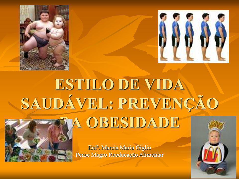 ESTILO DE VIDA SAUDÁVEL: PREVENÇÃO DA OBESIDADE Enfª.