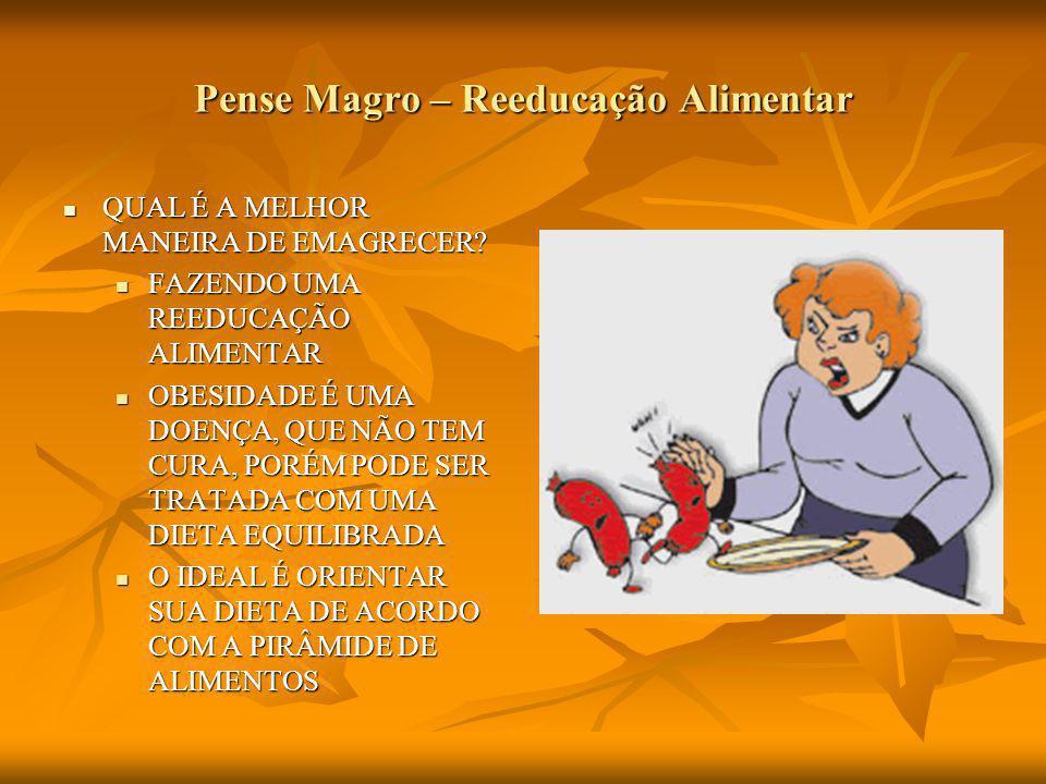 Pense Magro – Reeducação Alimentar QUAL É A MELHOR MANEIRA DE EMAGRECER.