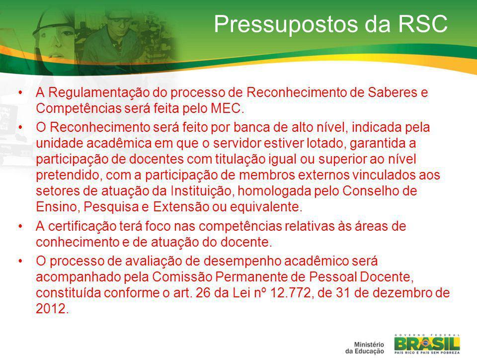 A Regulamentação do processo de Reconhecimento de Saberes e Competências será feita pelo MEC.