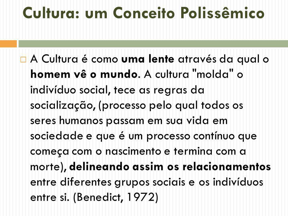Cultura: um Conceito Polissêmico A Cultura é como uma lente através da qual o homem vê o mundo. A cultura