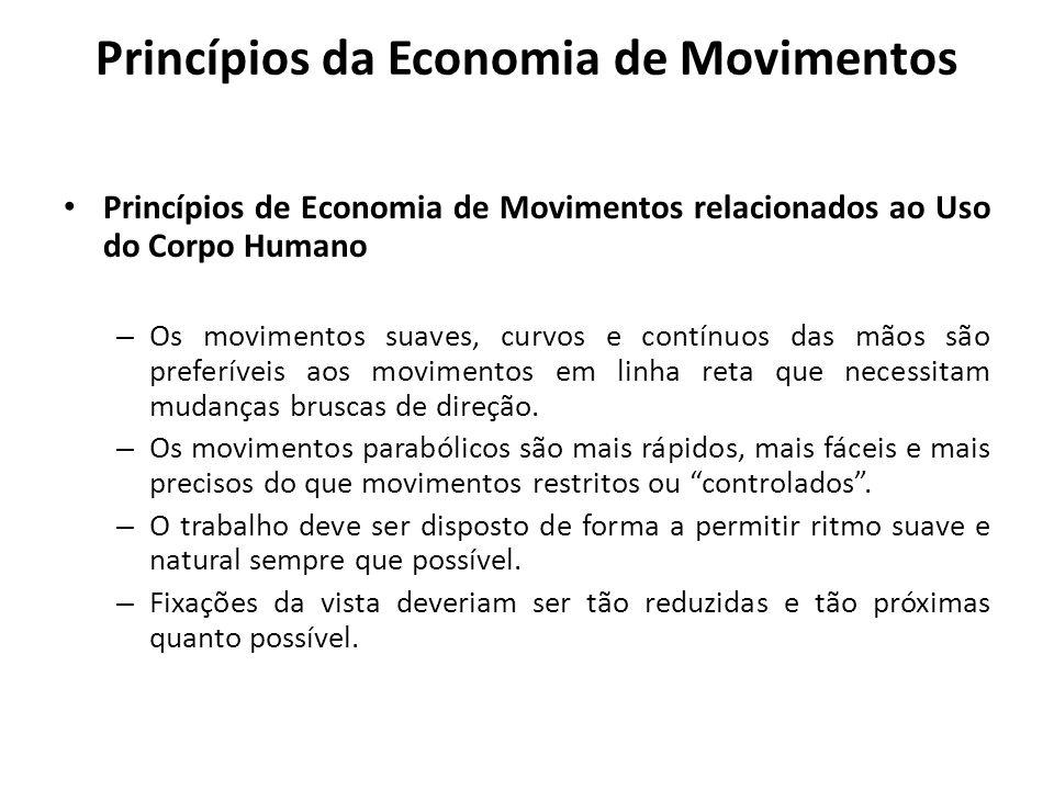 Princípios de Economia de Movimentos relacionados ao Uso do Corpo Humano – Os movimentos suaves, curvos e contínuos das mãos são preferíveis aos movim