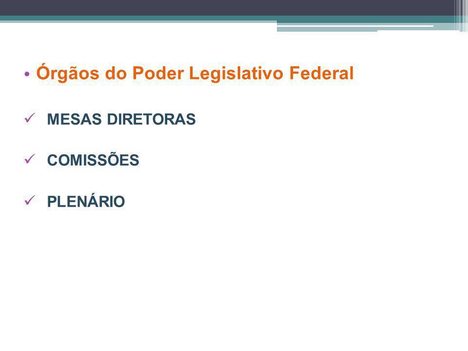 Órgãos do Poder Legislativo Federal MESAS DIRETORAS COMISSÕES PLENÁRIO
