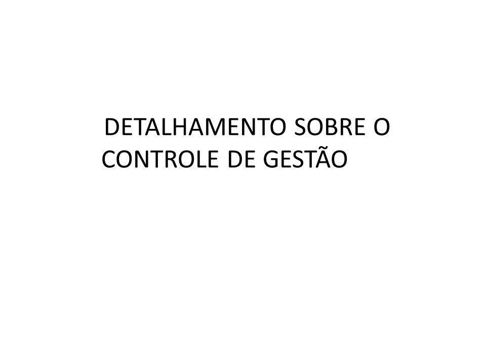 DETALHAMENTO SOBRE O CONTROLE DE GESTÃO