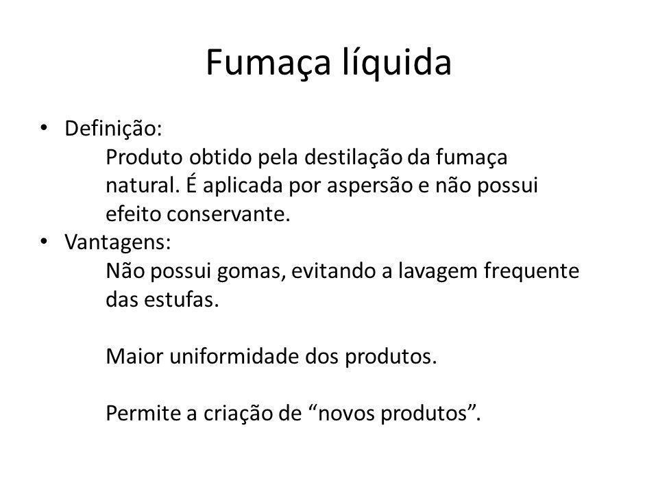 Fumaça líquida Definição: Produto obtido pela destilação da fumaça natural.