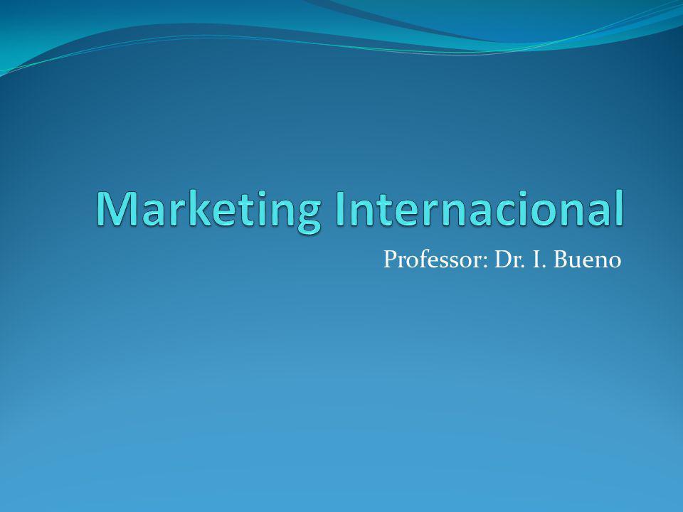 Professor: Dr. I. Bueno