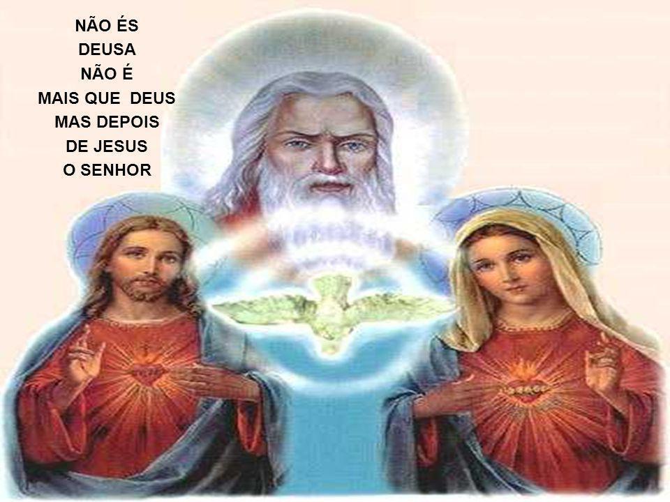 QUE SE LEMBRA DA MÃE DE JESUS MAIS BONITO É SABER QUEM TU ÉS COMO É BONITA UMA RELIGIÃO