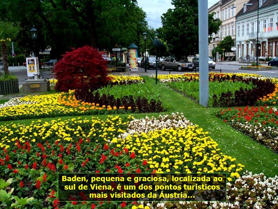 Baden, pequena e graciosa, localizada ao sul de Viena, é um dos pontos turísticos mais visitados da Áustria...