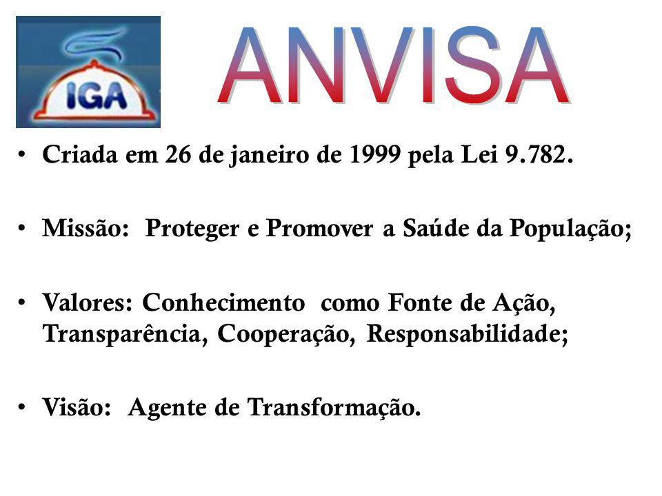 Criada em 26 de janeiro de 1999 pela Lei 9.782.