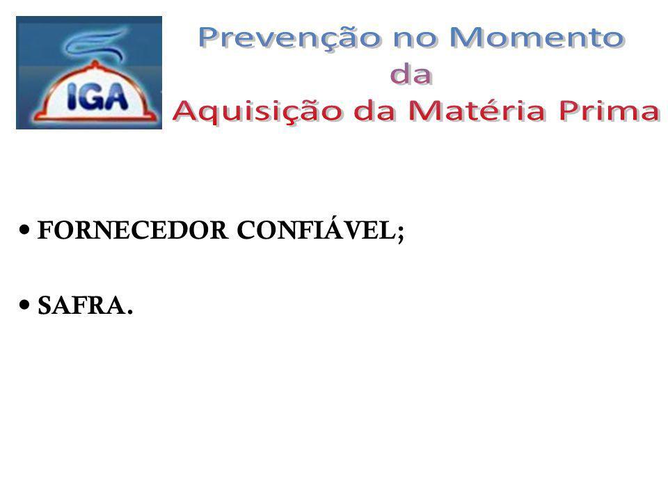 FORNECEDOR CONFIÁVEL; SAFRA.