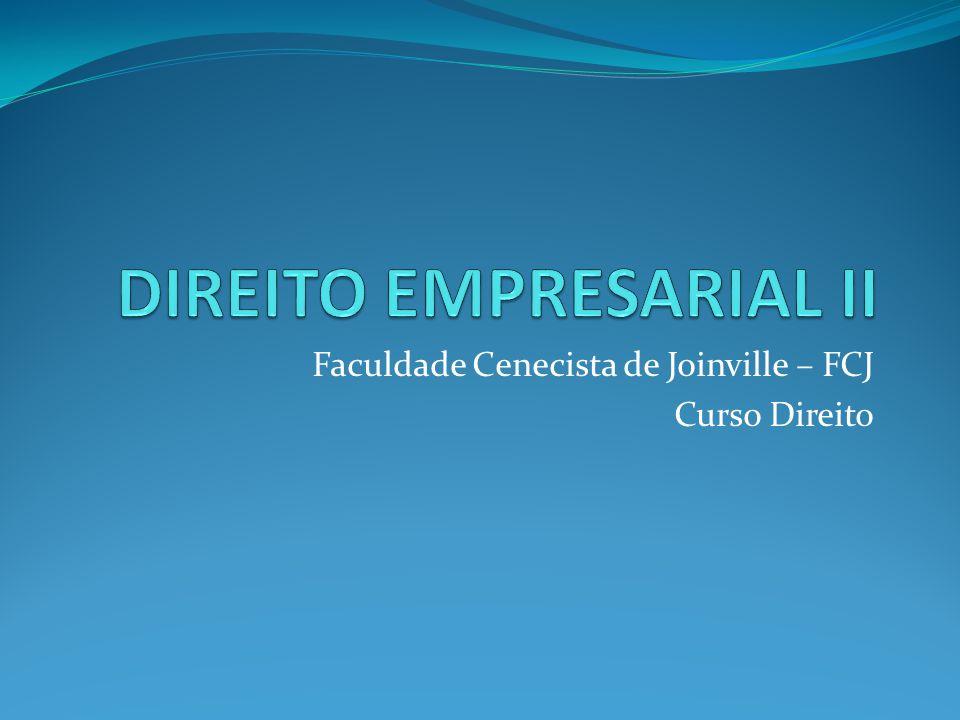 Faculdade Cenecista de Joinville – FCJ Curso Direito