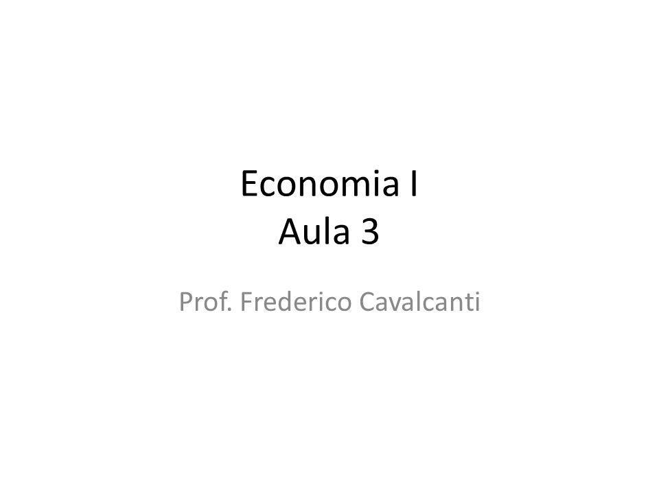 Economia I Aula 3 Prof. Frederico Cavalcanti