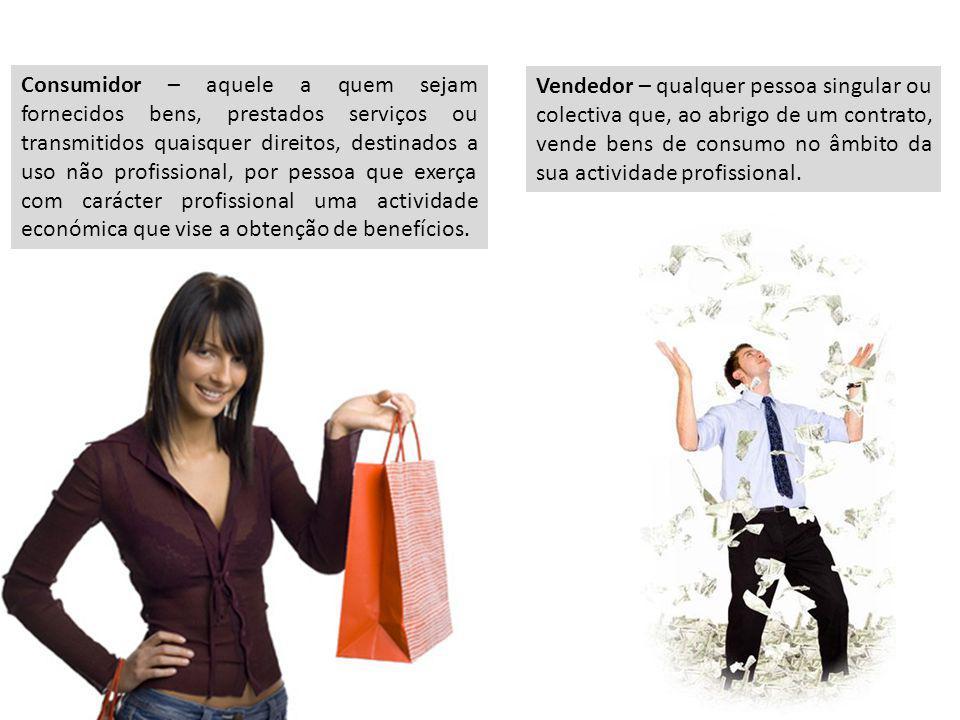 Consumidor – aquele a quem sejam fornecidos bens, prestados serviços ou transmitidos quaisquer direitos, destinados a uso não profissional, por pessoa