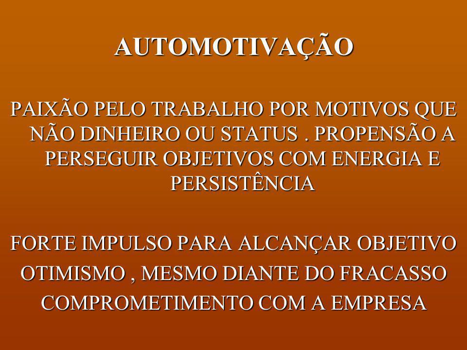 AUTOCONTROLE CAPACIDADE DE CONTROLAR OU REDIRECIONAR IMPULSOS E ESTADOS DE ESPÍRITO PERTURBADORES.