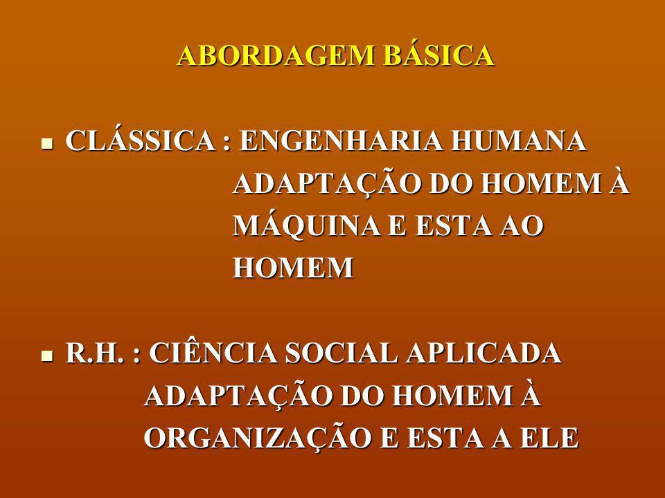 COMPARAÇÃO ESCOLA DE RELAÇÕES HUMANAS X TEORIA CLÁSSICA