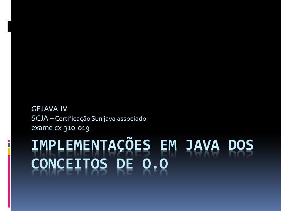 GEJAVA IV SCJA – Certificação Sun java associado exame cx-310-019