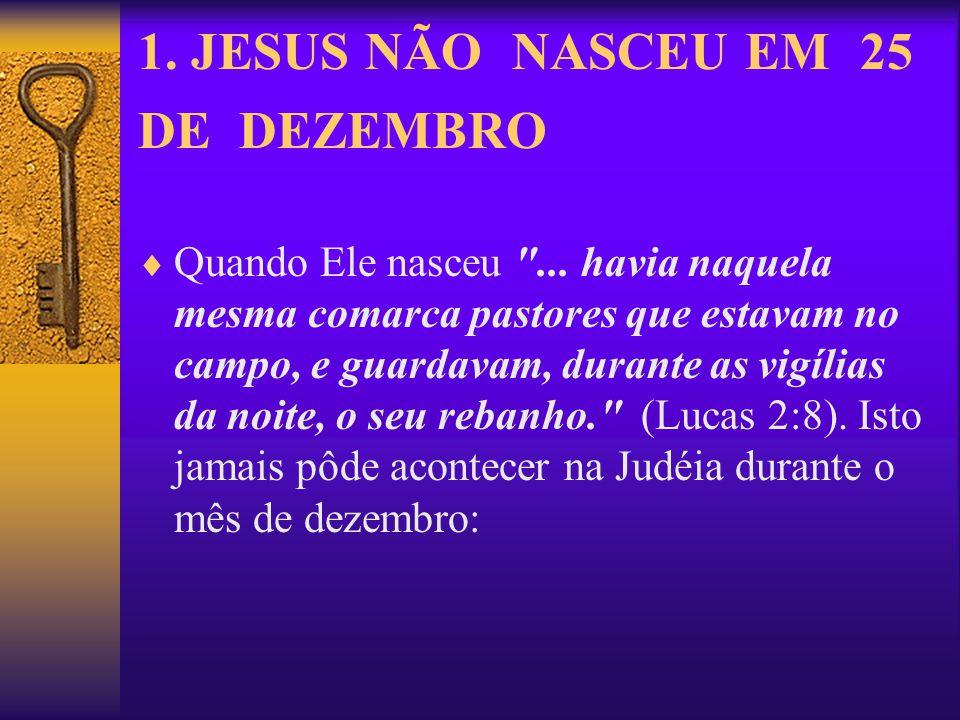 1. JESUS NÃO NASCEU EM 25 DE DEZEMBRO Quando Ele nasceu