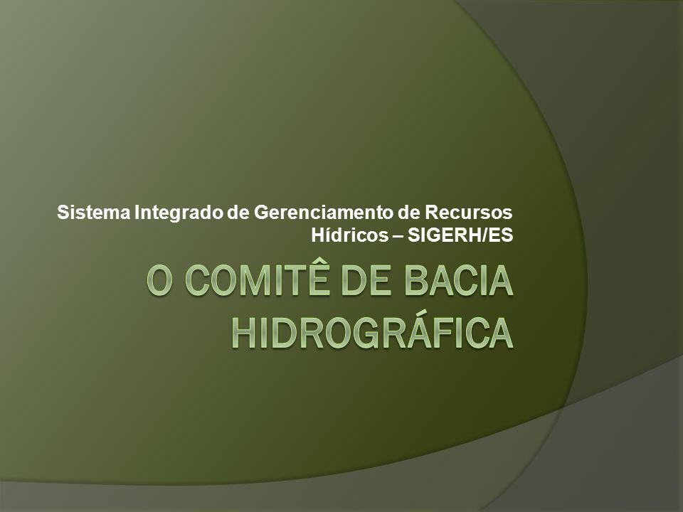 Sistema Integrado de Gerenciamento de Recursos Hídricos – SIGERH/ES