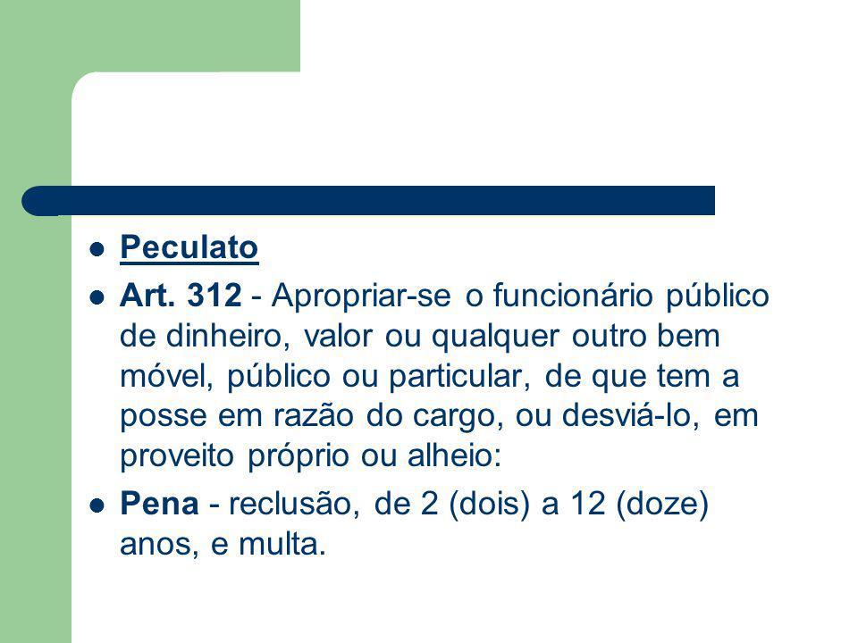 Peculato Art.