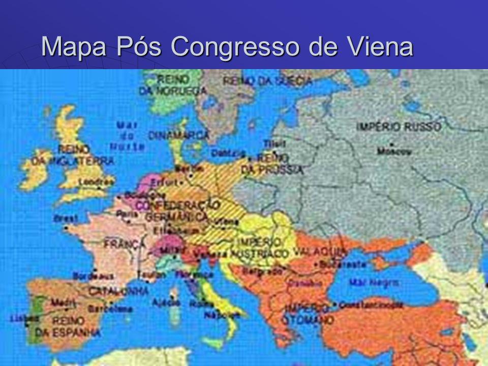 Mapa Pós Congresso de Viena Mapa Pós Congresso de Viena