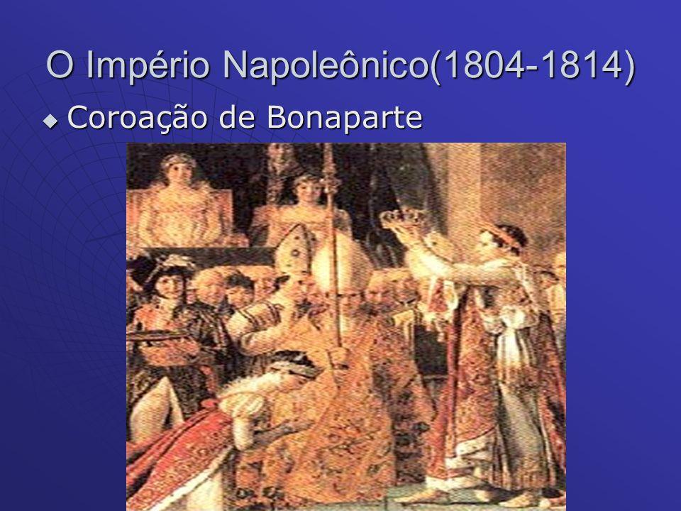 O Império Napoleônico(1804-1814) Coroação de Bonaparte Coroação de Bonaparte