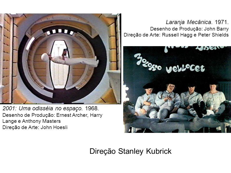 2001: Uma odisséia no espaço. 1968. Desenho de Produção: Ernest Archer, Harry Lange e Anthony Masters Direção de Arte: John Hoesli Laranja Mecânica. 1