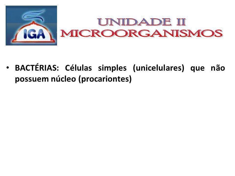 BACTÉRIAS Características gerais das bactérias: Principais Forma: As bactérias podem se apresentar separadamente ou formando colônias.