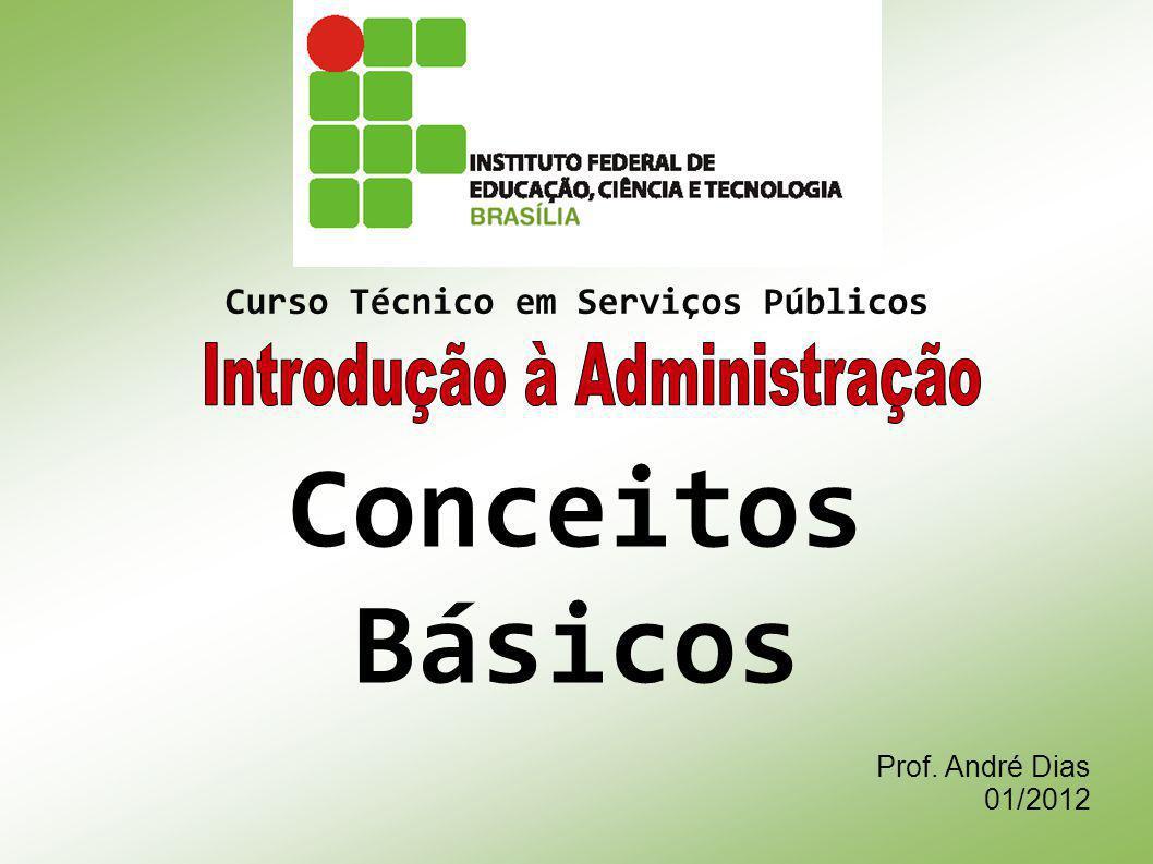 Prof. André Dias 01/2012 Curso Técnico em Serviços Públicos Conceitos Básicos