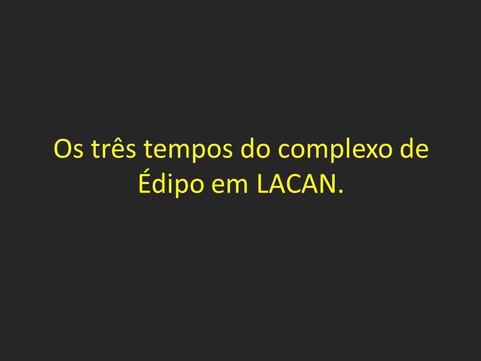 Os três tempos do complexo de Édipo em LACAN.