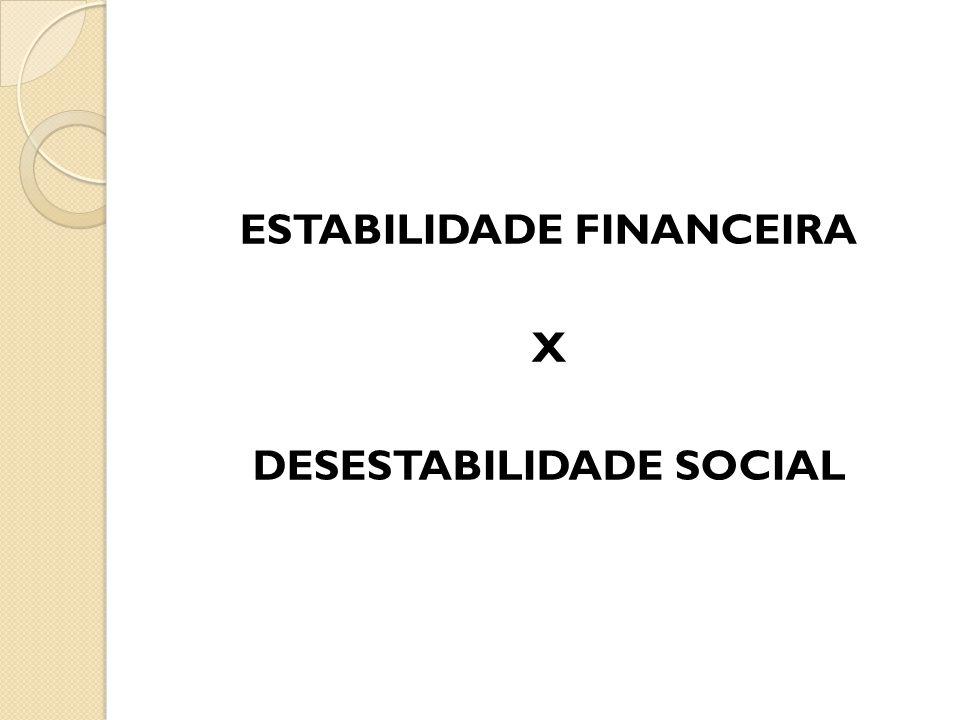 ESTABILIDADE FINANCEIRA X DESESTABILIDADE SOCIAL