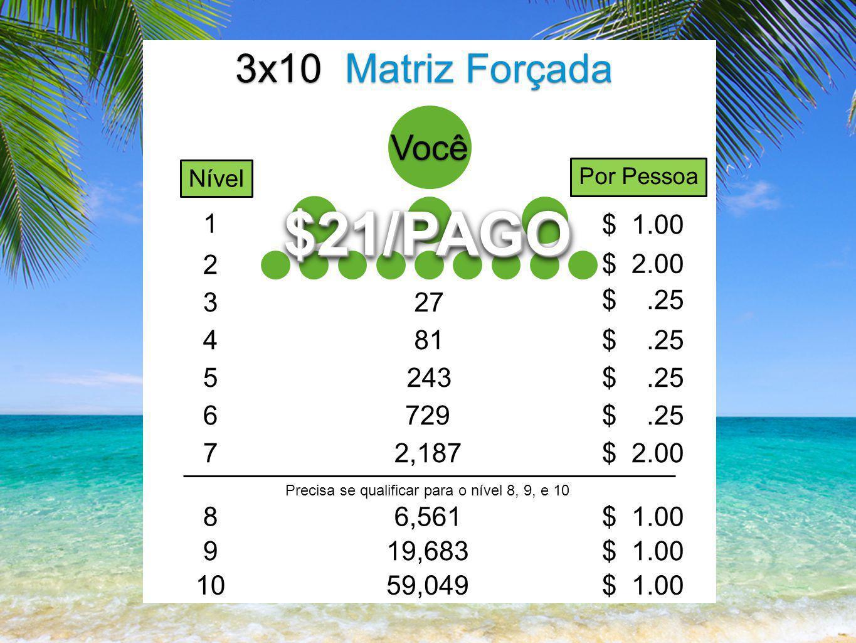 Você 3x10 Matriz Forçada 27 1 $ 1.00 $21/PAGO$21/PAGO 2 $ 2.00 3 $.25 481$.25 5243$.25 6729$.25 72,187$ 2.00 86,561$ 1.00 919,683$ 1.00 1059,049$ 1.00 Precisa se qualificar para o nível 8, 9, e 10 Nível Por Pessoa