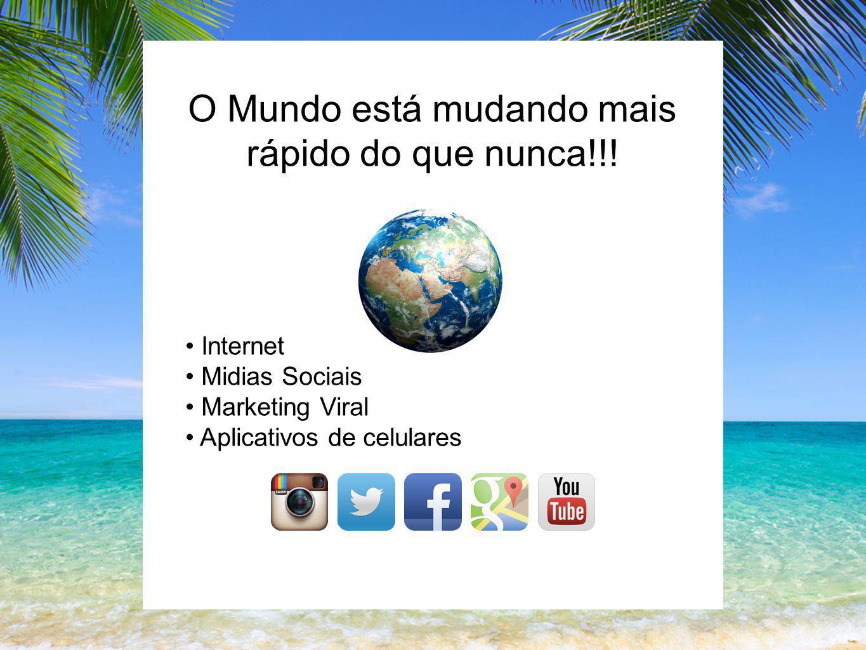 O Mundo está mudando mais rápido do que nunca!!! Internet Midias Sociais Marketing Viral Aplicativos de celulares