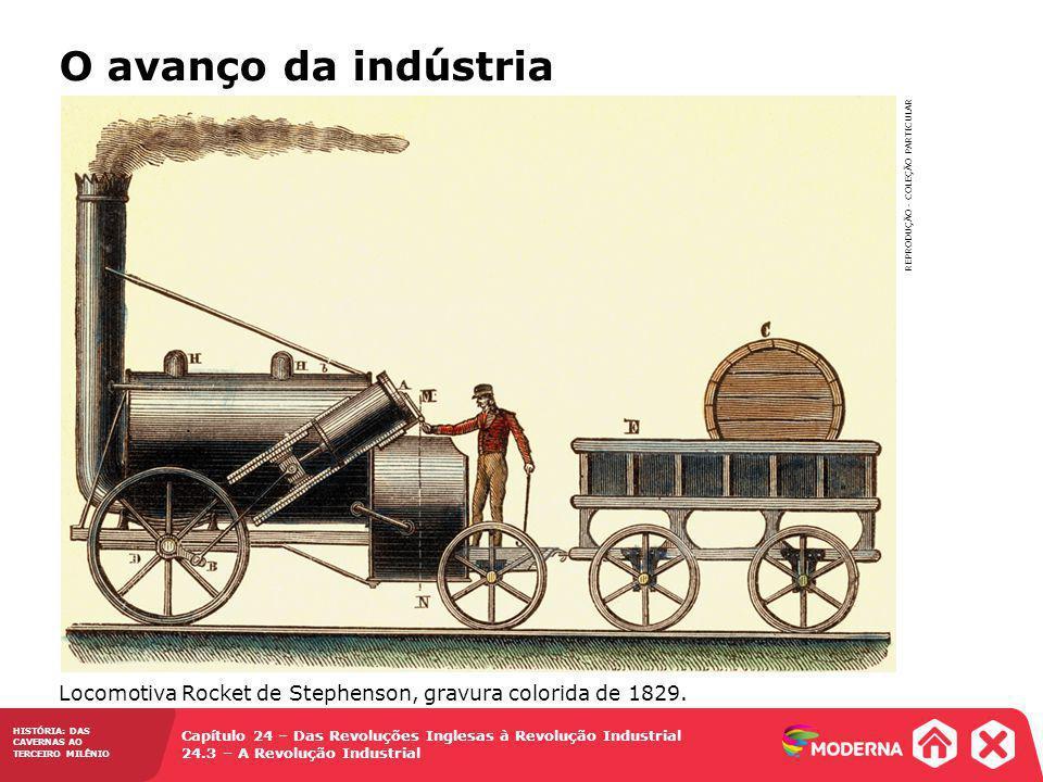 HISTÓRIA: DAS CAVERNAS AO TERCEIRO MILÊNIO Capítulo 24 – Das Revoluções Inglesas à Revolução Industrial 24.3 – A Revolução Industrial O avanço da indú