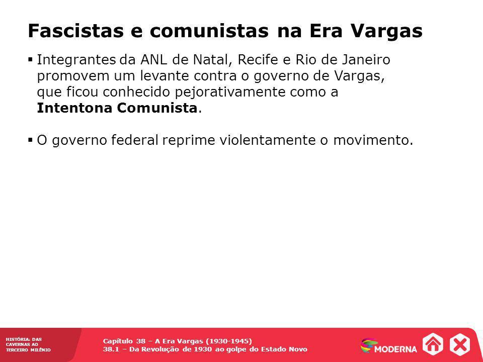 Capítulo 38 – A Era Vargas (1930-1945) 38.1 – Da Revolução de 1930 ao golpe do Estado Novo HISTÓRIA: DAS CAVERNAS AO TERCEIRO MILÊNIO Fascistas e comu