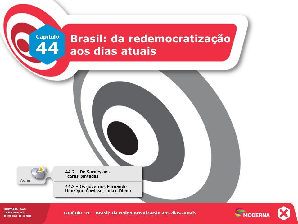 HISTÓRIA: DAS CAVERNAS AO TERCEIRO MILÊNIO Capítulo 44 – Brasil: da redemocratização aos dias atuais 44.2 – De Sarney aos caras-pintadas Capítulo 44 –