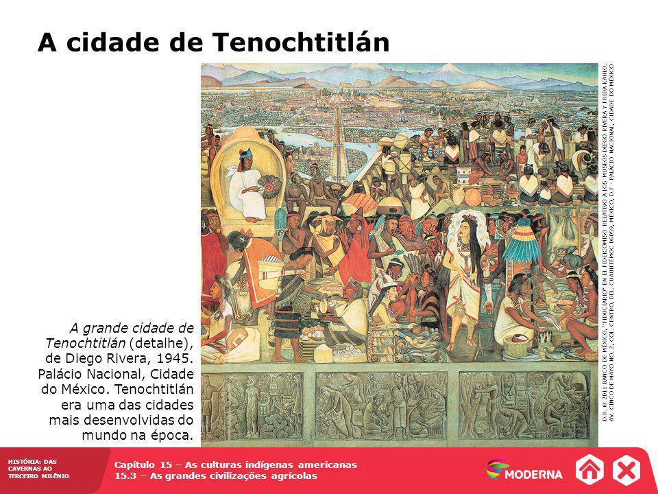 Capítulo 15 – As culturas indígenas americanas 15.3 – As grandes civilizações agrícolas HISTÓRIA: DAS CAVERNAS AO TERCEIRO MILÊNIO A grande cidade de