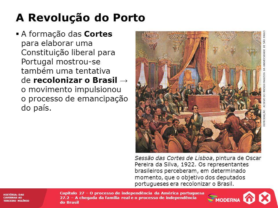 Capítulo 27 – O processo de independência da América portuguesa 27.2 – A chegada da família real e o processo de independência do Brasil HISTÓRIA: DAS