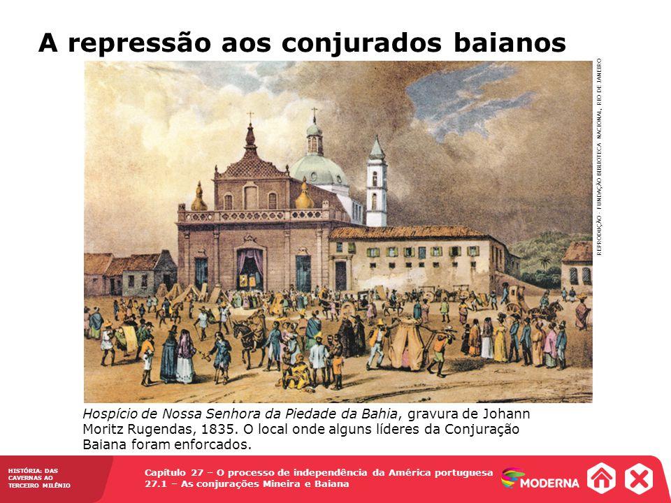 Capítulo 27 – O processo de independência da América portuguesa 27.1 – As conjurações Mineira e Baiana HISTÓRIA: DAS CAVERNAS AO TERCEIRO MILÊNIO Hosp