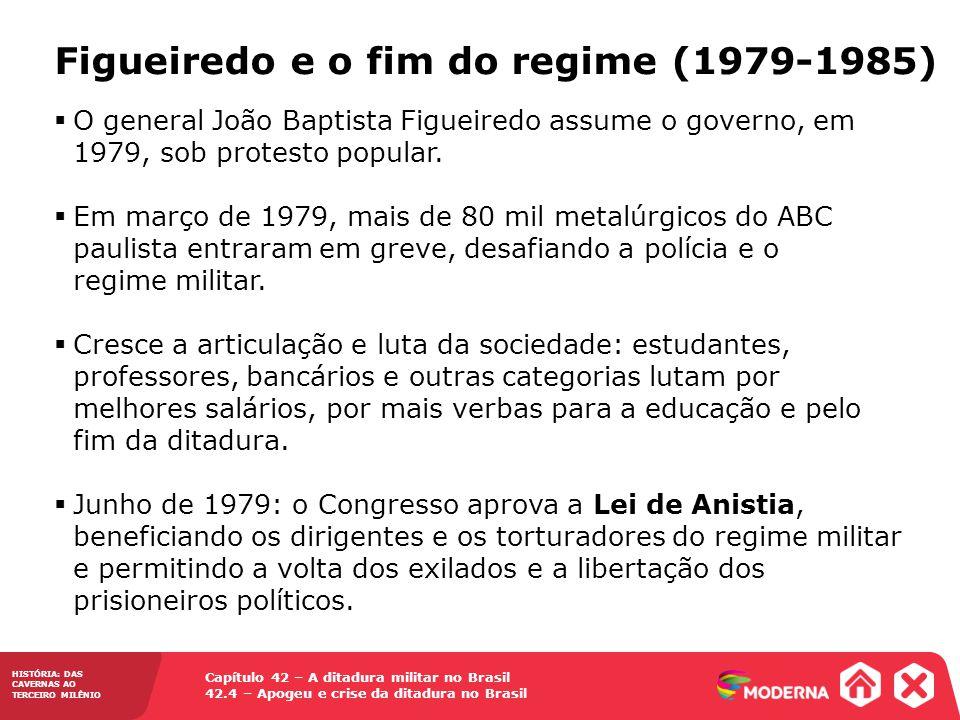 Capítulo 42 – A ditadura militar no Brasil 42.4 – Apogeu e crise da ditadura no Brasil HISTÓRIA: DAS CAVERNAS AO TERCEIRO MILÊNIO O general João Bapti