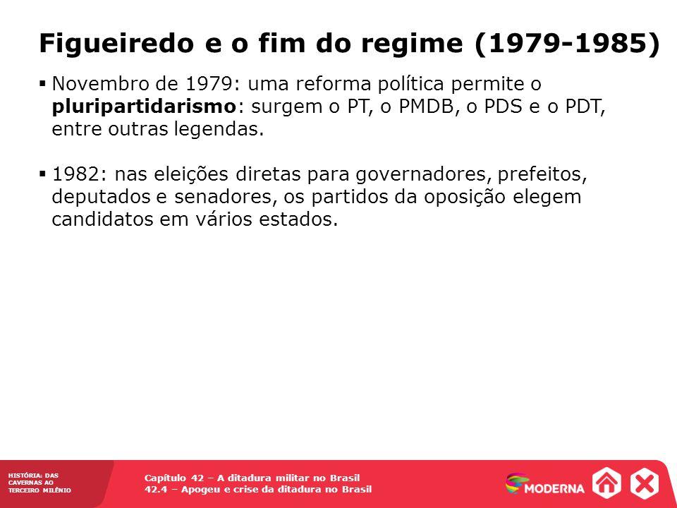 Capítulo 42 – A ditadura militar no Brasil 42.4 – Apogeu e crise da ditadura no Brasil HISTÓRIA: DAS CAVERNAS AO TERCEIRO MILÊNIO Figueiredo e o fim d