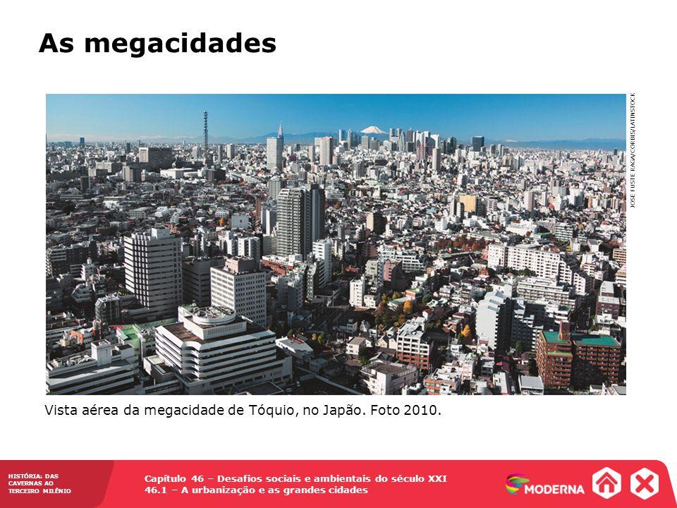 Capítulo 46 – Desafios sociais e ambientais do século XXI 46.1 – A urbanização e as grandes cidades HISTÓRIA: DAS CAVERNAS AO TERCEIRO MILÊNIO As mega