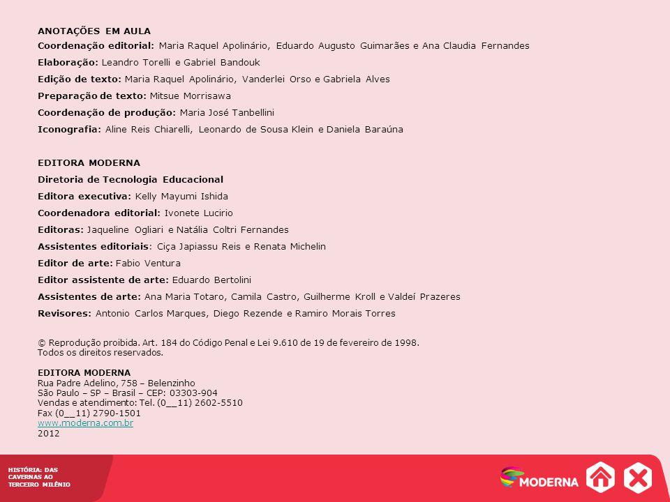 Capítulo 32 – Estados Unidos e América hispânica pós-independência HISTÓRIA: DAS CAVERNAS AO TERCEIRO MILÊNIO ANOTAÇÕES EM AULA Coordenação editorial: Maria Raquel Apolinário, Eduardo Augusto Guimarães e Ana Claudia Fernandes Elaboração: Leandro Torelli e Gabriel Bandouk Edição de texto: Maria Raquel Apolinário, Vanderlei Orso e Gabriela Alves Preparação de texto: Mitsue Morrisawa Coordenação de produção: Maria José Tanbellini Iconografia: Aline Reis Chiarelli, Leonardo de Sousa Klein e Daniela Baraúna EDITORA MODERNA Diretoria de Tecnologia Educacional Editora executiva: Kelly Mayumi Ishida Coordenadora editorial: Ivonete Lucirio Editoras: Jaqueline Ogliari e Natália Coltri Fernandes Assistentes editoriais: Ciça Japiassu Reis e Renata Michelin Editor de arte: Fabio Ventura Editor assistente de arte: Eduardo Bertolini Assistentes de arte: Ana Maria Totaro, Camila Castro, Guilherme Kroll e Valdeí Prazeres Revisores: Antonio Carlos Marques, Diego Rezende e Ramiro Morais Torres © Reprodução proibida.
