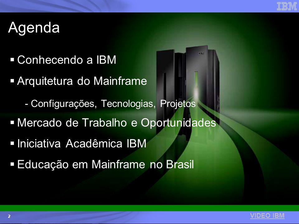 © 2006 IBM Corporation IBM Systems & Technology Group 2 Agenda Conhecendo a IBM Arquitetura do Mainframe - Configurações, Tecnologias, Projetos Mercad