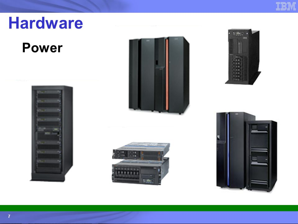© 2006 IBM Corporation IBM Systems & Technology Group 7 Hardware Power