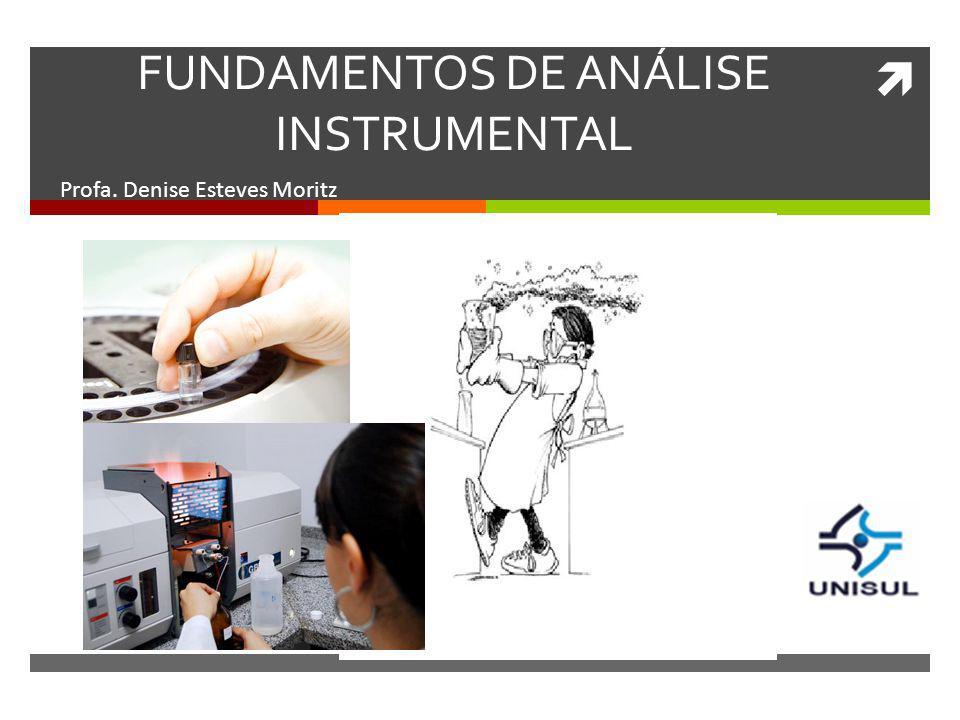 FUNDAMENTOS DE ANÁLISE INSTRUMENTAL Profa. Denise Esteves Moritz