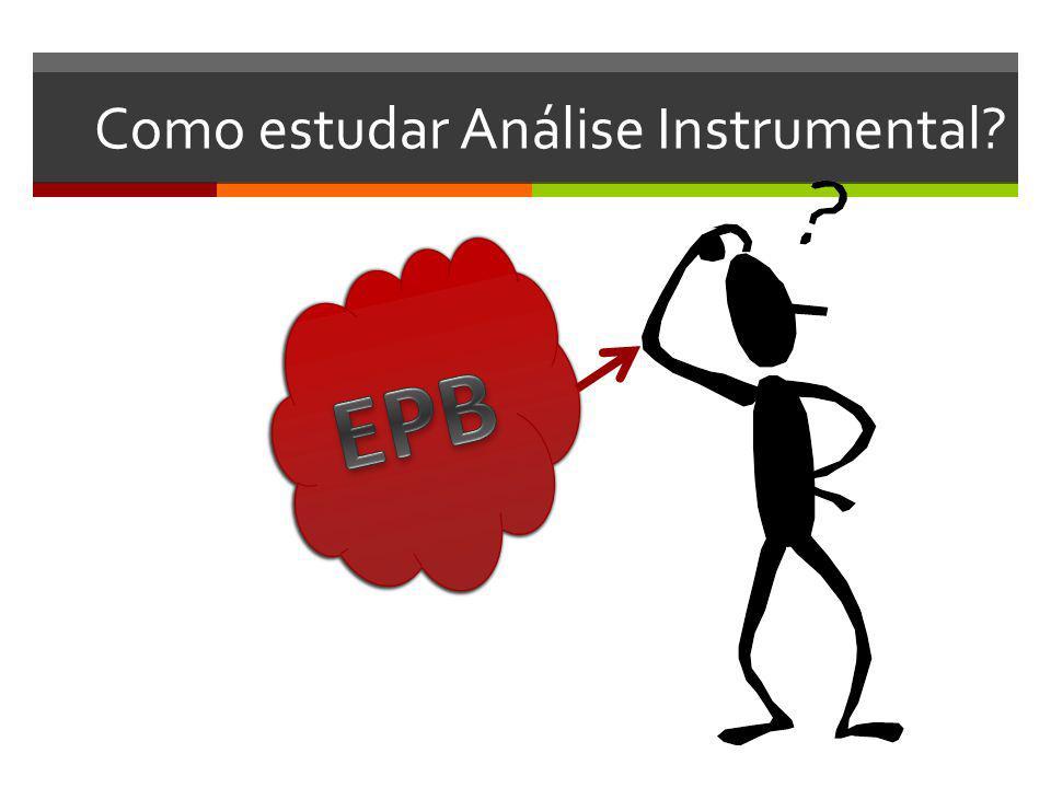 Como estudar Análise Instrumental?