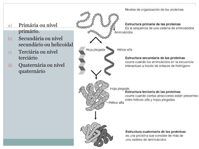 Profa. Denise Esteves Moritz - UNISUL Estrutura a) Primária ou nível primário. b) Secundária ou nível secundário ou helicoidal c) Terciária ou nível t