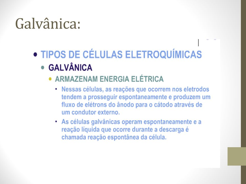 Galvânica: