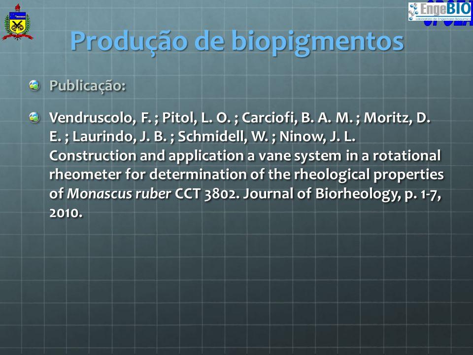 Publicação: Vendruscolo, F. ; Pitol, L. O. ; Carciofi, B. A. M. ; Moritz, D. E. ; Laurindo, J. B. ; Schmidell, W. ; Ninow, J. L. Construction and appl